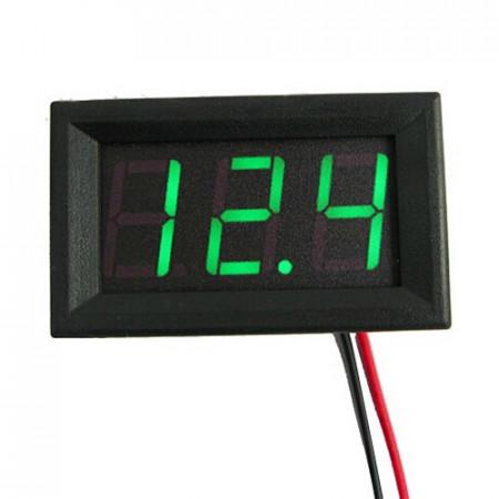 LED voltmetar 4.5-30VDC zeleni