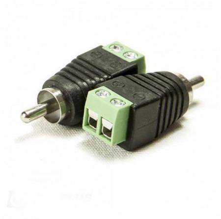 Muški RCA konektor sa rednom klemom