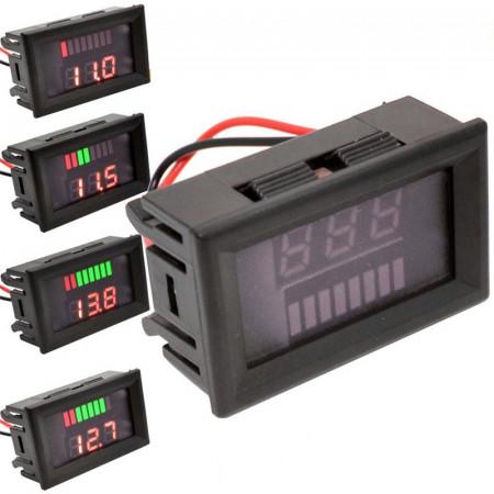 Indikator stanja akumulatora sa LED voltmetrom crveni
