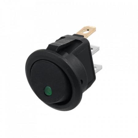 Okrugli prekidač sa LED diodom zeleni
