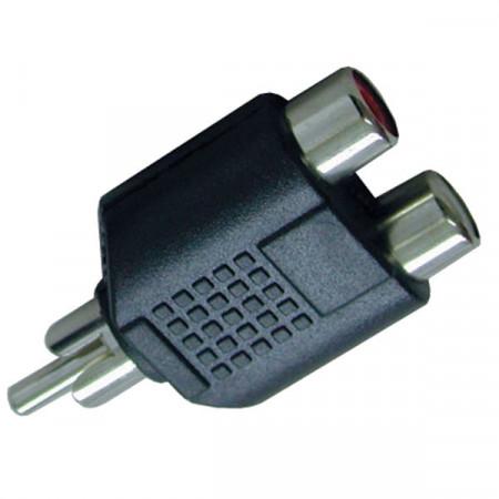 Adapter RCA muški-2xRCA ženski