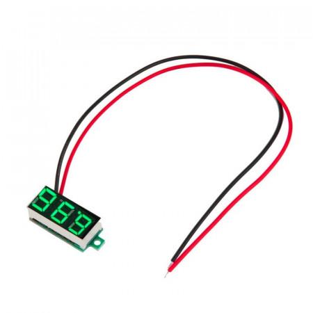 LED voltmetar mini zeleni