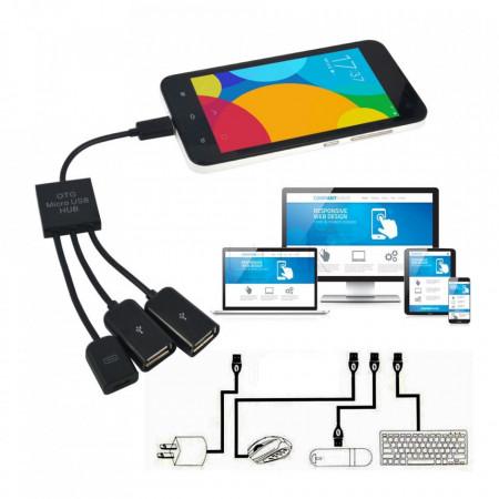 Mikro USB OTG hub