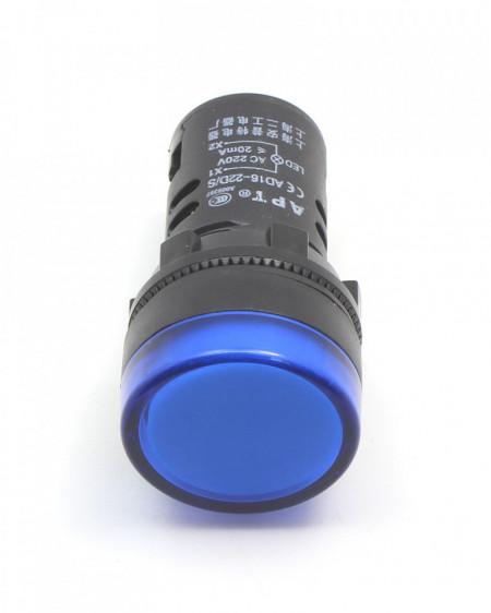 Signalna sijalica 230VAC 22mm plava