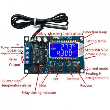 Temperaturni kontroler sa LCD displejom