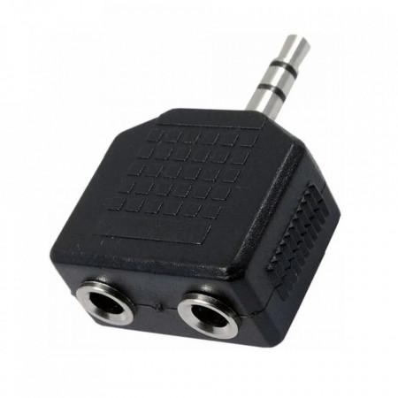 Adapter 3.5mm stereo muški na 2 ženska