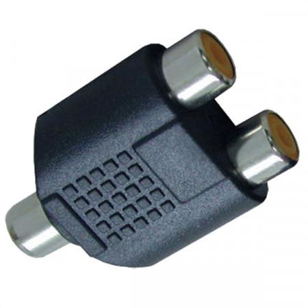 Adapter RCA ženski-2xRCA ženski