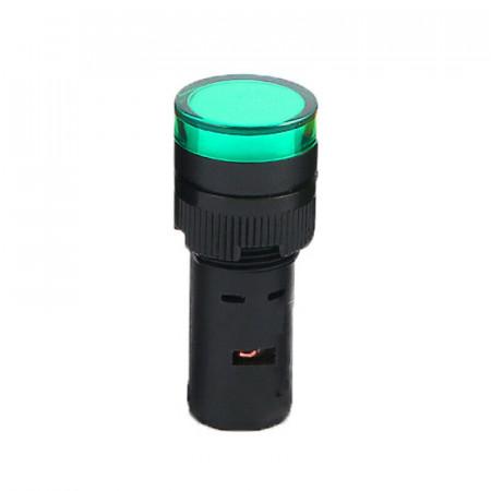 Signalna sijalica 12VDC 16mm zelena