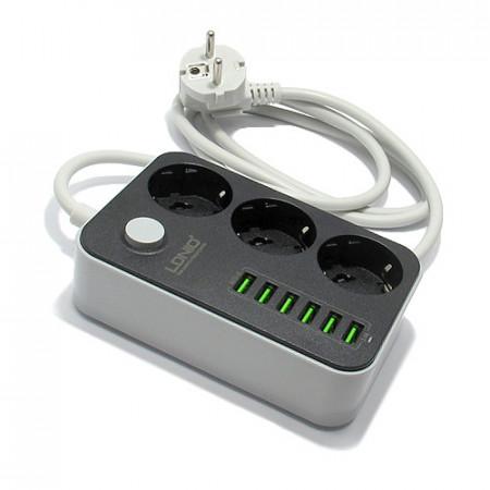 Strujni razvodnik sa 3 mesta i 6 USB portova