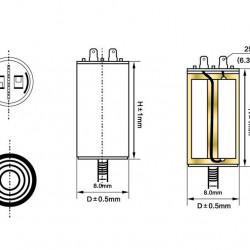 Kondenzator za motore 450VAC 8MF