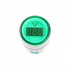 LED voltmetar 60-500VAC 22mm zeleni