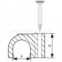 Kablovska obujmica sa ekserom 10mm