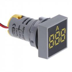 LED ampermetar 0-100A 22mm žuti AD101-22AMS