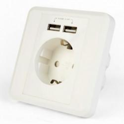 Mrežna šuko utičnica sa dva USB porta