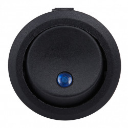 Okrugli prekidač sa LED diodom plavi