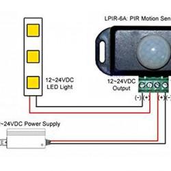 PIR senzor za LED trake