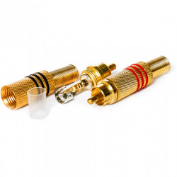 RCA konektor muški zlatni crveni