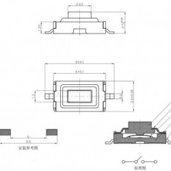 Taster za SMD montažu 6x3x2.5mm