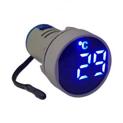LED termometar AD22-22TM plavi