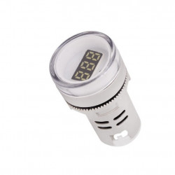 LED voltmetar 60-500VAC 22mm beli