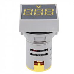 LED voltmetar 60-500VAC 22mm žuti