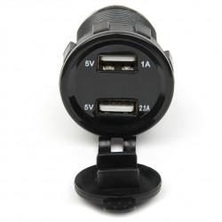 Vodootporni USB punjač sa LED voltmetrom crveni