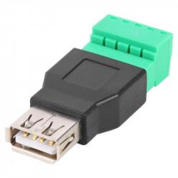 Ženski USB konektor sa terminal klemom