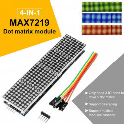 Četvorostruki LED dot matrix modul 8x8 crveni
