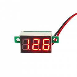 LED voltmetar mini crveni