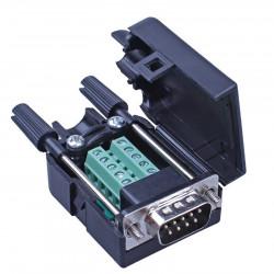 Muški DB9 (RS232) konektor sa terminal klemama i kućištem sa ručicama
