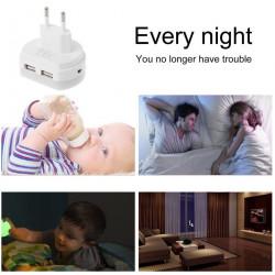 Noćno LED svetlo sa dva USB porta