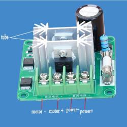 Regulator brzine DC motora 10A sa displejom i kućištem
