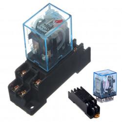 Rele sa podnožjem za DIN šinu DPDT 8A 230VAC