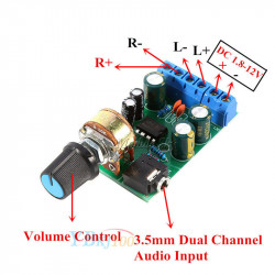 Stereo audio pojačalo 2x1W