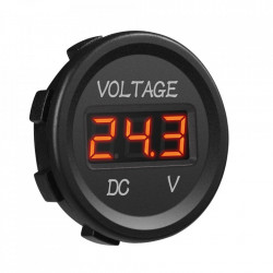 Vodootporni LED voltmetar za auto crveni