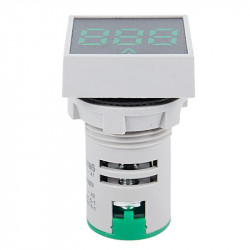 Digitalni LED voltmetar 60-500VAC 22mm zeleni