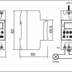 Digitalni tajmer za montažu na DIN šinu TS-GE2