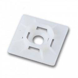 Držač vezica za kablove 19x19mm beli