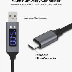 Kabl USB na mikro USB sa LED displejom