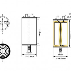 Kondenzator za motore 450VAC 14MF