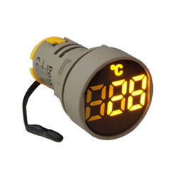 LED termometar AD22-22TM žuti