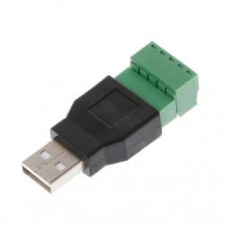 Muški USB konektor sa terminal klemom