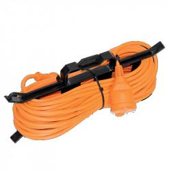 Produžni šuko kabl 10m narandžasti sa motalicom