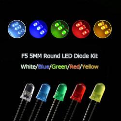 Set LED dioda 5mm 100 komada