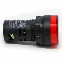 Signalna sijalica 12VDC 22mm crvena