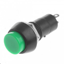 Taster za montažu na šasiju 12mm zeleni