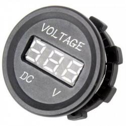 Vodootporni LED voltmetar za auto zeleni
