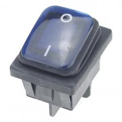 Vodootporni prekidač 30x22mm 16A 250VAC plavi