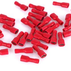 Ženska kablovska papučica 6.3mm izolovana crvena