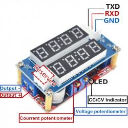 DC-DC konvertor sa 2 LED displeja